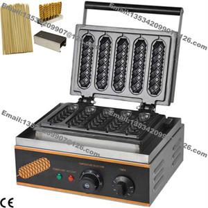 Livraison gratuite 3 en 1 Commercial antiadhésif 110v 220v électrique français Hot Dog sur bâton Gaufrier Baker Machine w / titulaire bâton