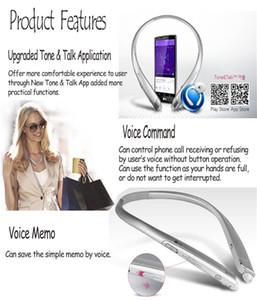 Bluetooth Headset Platinum Bluetooth HBS 910 Drahtloser Kopfhörer Nackenband Typ Bluetooth Stereo Kopfhörer