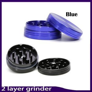 2 layer aluminium alloy herb grinder Aluminum Metal Tobacco Crusher Hand Muller Smoke Herbal Herb Grinder for twisty glass blunt 0266145