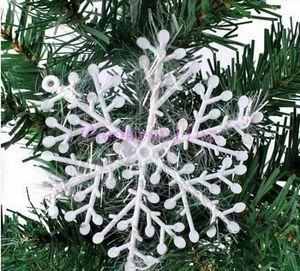 Snowflake Christmas supplies Size 11x11 cm Christmas decoration white Christmas hanging decoration