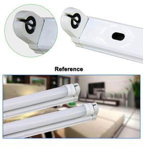 Accesorio Led T8 4ft 1200mm Soporte de soporte de accesorio integrado de hierro T8 Soporte de luz de tubo LED, envío gratis