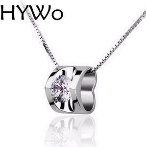 HYWo pendentif sans chaîne en argent sterling 925 nouveau collier de dame arrivée CZ clair bijoux pendentif en gros + véritable amour / cadeau de valentines