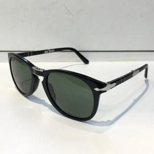 مصمم أزياء النظارات الشمسية الكلاسيكية الرجعية 714 طيار للطي عدسة إطار الزجاج UV400 حماية النظارات مع حقيبة جلد