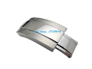 Envío gratis 16 mm nueva alta calidad de acero inoxidable correas de reloj de la hebilla de cierre de despliegue para Rol reloj