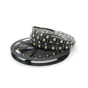 Edison2011 hohe Qualität 5050 schwarzes PWB RGBW LED Streifen IP65 imprägniern RGB + Whit DC 12V 300 Leds 60 Leds / M freies DHL