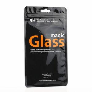 1000шт Оптовая горячий продавать черный закаленное стекло пакет сумка для iphone 7 7plus защитная пленка