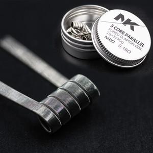 Ücretsiz Kargo NK en popüler önceden oluşturulmuş bobin Nichrome 80 sigortalı clapton ecig vape için bobin 5 çekirdek tel yeniden