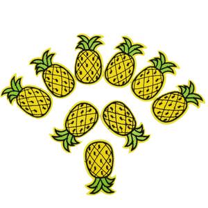 aksesuarları dikiş yamalar üzerinde giyim demir işlemeli yama aplike demir için diy ananas yamaları giysi çıkartma rozet