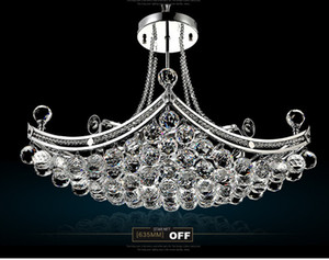 Lampadari di cristallo di lusso Big Light Fixture Clear Crystal Lustre Lampada da soffitto Design per la casa Deco Light