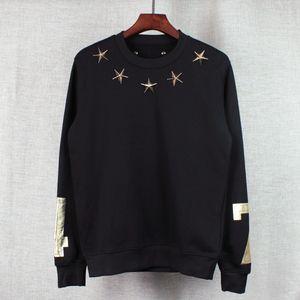 2016 Herbst und Winter Marke Männer Hoodies Casual Sport Langarm-Sweatshirt 47 digitale Gold Sterne Pullover Mantel Jacke Outwear Tops