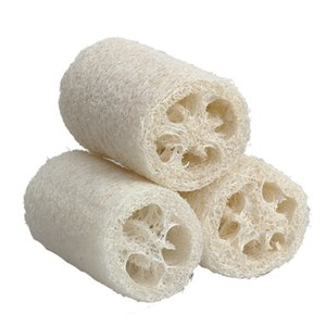 3 adet Doğal Lif Kabağı Luffa Duş Loofa Banyo Vücut Duş Sünger Scrubber Küçük Boyutu