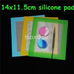 14x11.5 cm özel silikon dab mat silikon dab mat silikon ped cam bong için dab wax buharlaştırıcı yağ mat