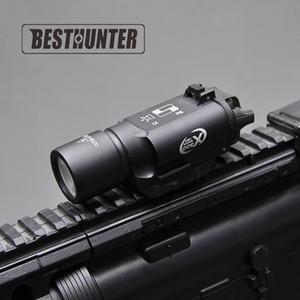 Tactical SureFire X300 pistola de pistola Ultra Light X300U 500 lúmenes Rifle de alto rendimiento Linterna Fit 20mm Picatinny Weaver Rail