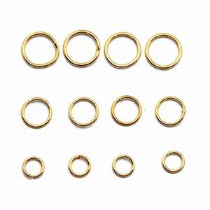 العثور على مجوهرات لون الذهب لوحة غير ملحوم حلقات الانتقال الفولاذ المقاوم للصدأ لصنع ديي 100g / bag JR01