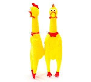 Middle (7.0 * 31.0CM) Puppies Toy Chicken Shrilling Grido Rubber Dog divertente giocattolo 10pcs / lots