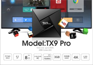 TX9 Pro Amlogic S912 3 GB DDR3 32GB Octa Çekirdek Android 7.1 TV BOX 2.4 / 5 Ghz WIFI, Bluetooth 1000M LAN 4K H.265 Akıllı Media Player VS TX8 Max