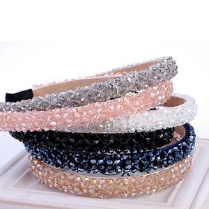 Nuevo Multicolor Cristal de cristal diadema moda banda para el cabello hecho a mano para mujeres niñas accesorios para el cabello joyería Hairband