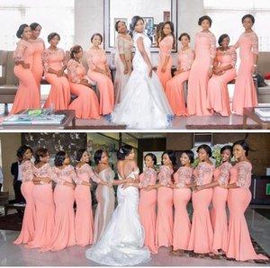 2017 дешевые длинные Русалка платья невесты для гостей свадьбы плюс размер свадебные платья продажа дешевые нигерийская фрейлина одежда до 10