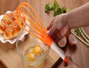 Fashion Hot Rotatable Mixer 2in1 Drehbare Schneebesen Lebensmittelqualität PP Schneebesen Kochen Werkzeuge Küchenmixer Abnehmbare Waschbar Eiermischer
