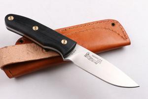 NEUESTE R. W. Loveless regelten Blattmesser AUS-10 Stahl 59HRC Blatt-Schwarz-G-10 Griff Outdoor Survival straignt Messer