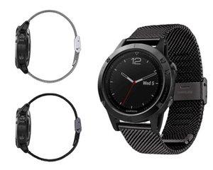 New Arrival 22mm Milanese Stainless Steel GPS Watch Band Strap Bracelet For Garmin Fenix 5 forerunner935