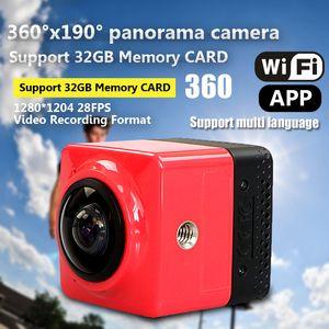 CUBE 360 Mini Sport Action Kamera 360-Grad Panorama VR Kamera Build-in WiFi Kamera H.264 1280 * 1042 Video Mini Camcorder mit GVT100M DSP