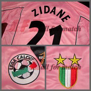 RUGBY 97/98 Partido centenario desgastado jugador Edición Camisa Jersey Mangas cortas Zidane Del Piero encargo del fútbol Patrocinador Nombre Número de Parches