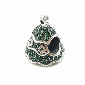Pandora Christmas Tree Charms 925 prata esterlina solta contas para fio bracelete DIY Fashon Jóias Authentic Quality Acessórios Big Hole