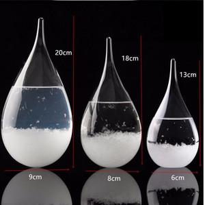 Previsão do Tempo De Cristal Tempo 3 tamanhos Gotas de Água Forma Tempestade de Vidro Tempo Predictor Garrafa de Artesanato de Natal Artes presentes