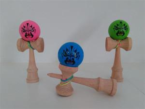 200pcs nouvelle chaud pu conseils de peinture balle kendama jouet professionnel jeu top qualité dragon face à deux