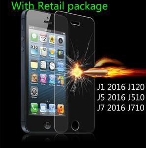 Film de verre trempé anti-déflagrant transparent haut de 0.33mm pour Samsung Glaxy J1 2016 J120 J5 2016 J510 J7 2016 J710 Protecteur d'écran LCD