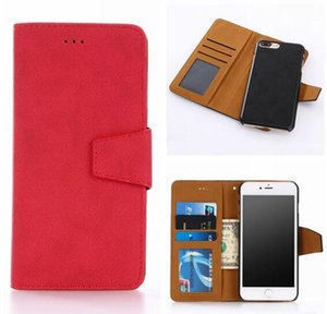 For Iphone 7 Plus 7G 7plus 7th Wallet Leather Pouch Case Multi-function Retro Matte Card Photo Frame 2 IN 1 Detachable Magnetic Pocket Cover