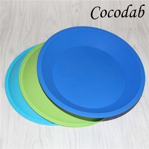 """Livraison gratuite plateau en silicone Deep Dish Round Pan 8 """"convivial Anti-Adhésif Conteneur en Silicone Concentré Huile BHO FDA plateaux en silicone"""