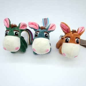 Dos desenhos animados pouco burro carro chaveiro de pelúcia donkey doll bag pingente chaveiro jóias presente personalizado
