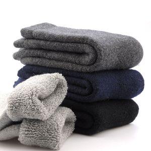 All'ingrosso 1 paio di Mens addensare lana termica cashmere casuale Winter Warm Socks -Y107