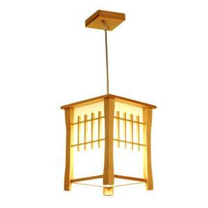 OOVOV Classique En Bois Balcon Pendant Lampes Style Japonais Salle À Manger Pendentif Lumière Hall Couloir Corridor Pendant Lampe