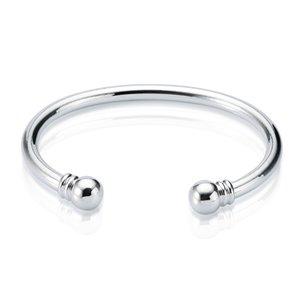 Nueva llegada 925 brazalete de plata esterlina brazalete de torsión simple brazalete pulsera de tamaño abierto brazaletes para las mujeres envío gratis