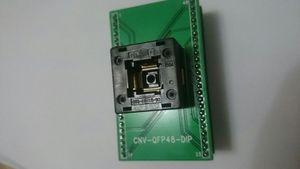 CNV-QFP48-DIP YANIK SOKET OTQ-48-0.5-10 QFP48PIN IC TEST SOKETI PCB KURULU ILE