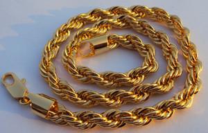 Тонкое желтое золото ювелирные изделия очень красиво Дендиизм тонкой цепи 24 к золотое ожерелье вокруг шеи 23.6 дюймов GF тяжелый сырой 59 г