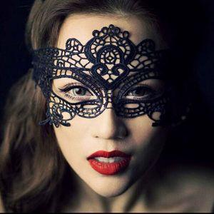 Sexy llamativa máscara de encaje para Sexy Lady Girls Women Party Noche de Navidad Mystic Angel Máscara de encaje negro Qween Mask Half-face Lace Mask