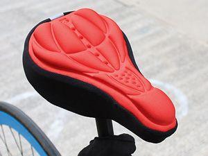 Livraison gratuite Vélo Vélo 3D Pad Bicycle Seat Saddle Cover Doux Coussin Gel Silicone Plus Épais 3D Housse De Coussin