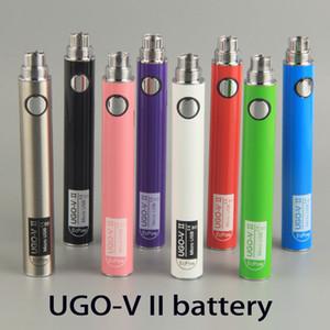 Оригинал UGO-V2 II 650 900 мАч EVOD ego 510 Аккумулятор micro USB Зарядные испарители Электронные сигареты O ручка Vape батареи 0270001