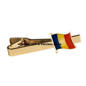 Clip de corbata de la bandera nacional de Andorra