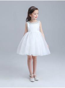 New Flower Girl Dresses White Ivory Real Party Pageant Communion Dress Little Girls Kids Children Dress for Wedding EMS   DHL Free