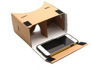 Auriculares de cartón de realidad virtual DIY Google Cardboard VR 3D con NFC para Google Android IPhone LL