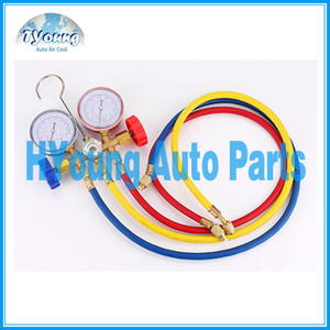 auto Air Conditioning AC Diagnostic Manifold Gauge Tool Set, refrigeración del coche, suministro de China
