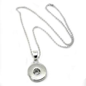 noosa kolye Charm Snap Düğmesi Gümüş Kolye Kolye 69 cm boncuk zincir kadın takı