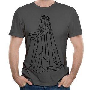 Últimas camisetas de algodón puro para hombres Spirit Walking Sketch Moda Camisas de estilo especial Vestimenta informal al aire libre
