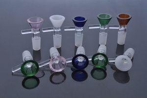 EM STOCK colorido bacias de vidro de 14 mm de 18 milímetros macho tigela de vidro para a erva seca bongs vidro tubo de água 14,4 milímetros 18,8 milímetros