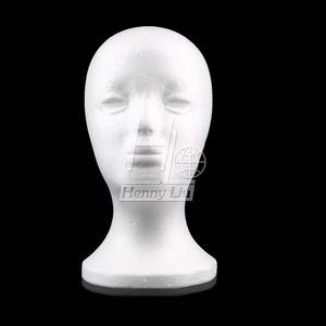 Atacado-Feminino espuma de isopor manequim manequim modelo de cabeça peruca de cabelo óculos chapéu de exibição de jóias